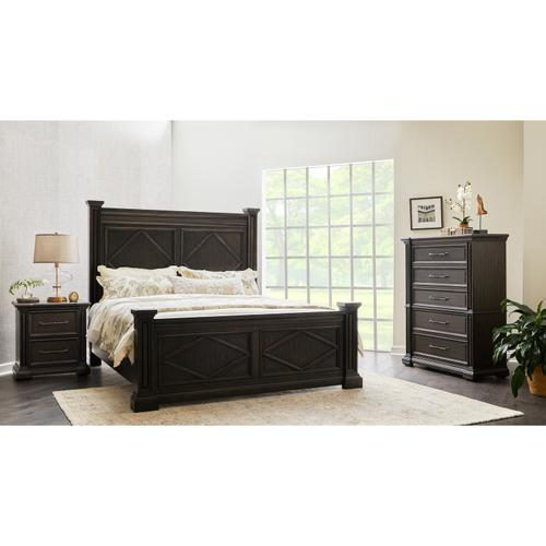 Canyon Creek 6/6 & King Headboard in Brown