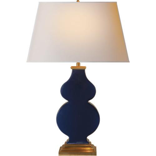Alexa Hampton Anita 29 inch 150 watt Midnight Blue Porcelain Decorative Table Lamp Portable Light