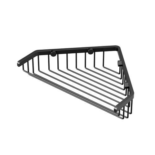"Corner Shower Basket 9 1/4""W in Matte Black"