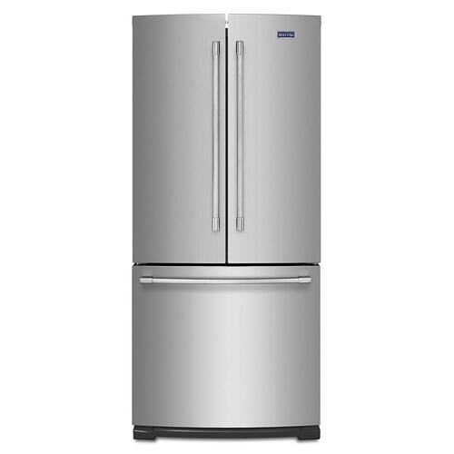 19.6 cu ft French Door Refrigerator with Strongbox Door Bins Fingerprint Resistant Stainless Steel