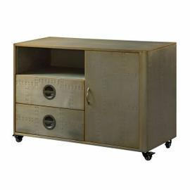 ACME Jennavieve Cabinet - 92551 - Gold Aluminum
