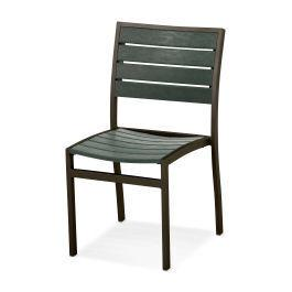 Polywood Furnishings - Eurou2122 Dining Side Chair in Textured Bronze / Green