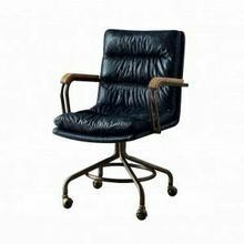 ACME Harith Executive Office Chair - 92417 - Vintage Blue Top Grain Leather