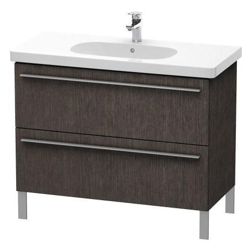 Vanity Unit Floorstanding, Brushed Dark Oak (real Wood Veneer)