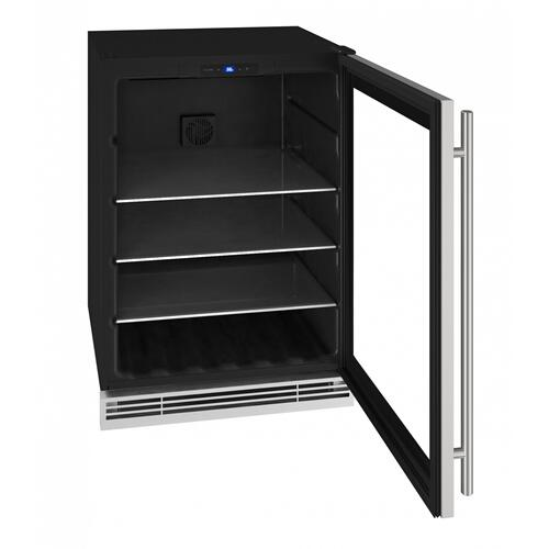"Hbv024 24"" Beverage Center With Stainless Frame Finish (115 V/60 Hz Volts /60 Hz Hz)"