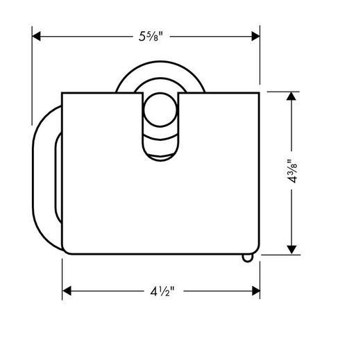 Brushed Nickel Toilet Paper Holder