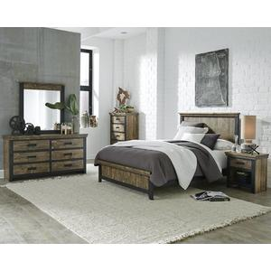 Drawer Dresser - Honey \u0026 Black Finish