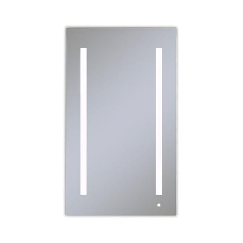 """Aio 23-1/4"""" X 40"""" X 4"""" Single Door Lighted Cabinet With Lum LED Lighting In Bright White (4000k), Dimmable, Built-in Om Audio, Interior Lighting, Electrical Outlet, Usb Charging Ports, Magnetic Storage Strip and Left Hinge"""