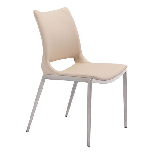 Zuo Modern - Ace Dining Chair Light Pink & Silver
