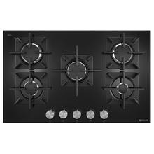 """See Details - Black Floating Glass 30"""" 5-Burner Gas Cooktop Black"""