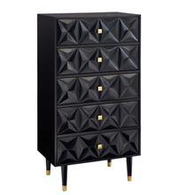 Geo Bedroom 5 Dresser Chest Black