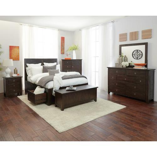 Kona Grove Queen Storage Bed- Footboard/slats/rails Only