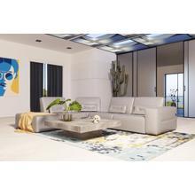 View Product - Accenti Italia Enjoy - Italian Modern Grey Leather Left Facing Sectional Sofa