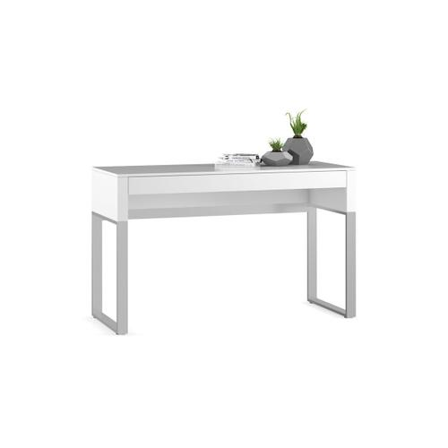 Console Laptop Desk 6202 in Smooth Satin White