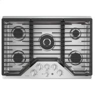 """30"""" Built-In Tri-Ring Gas Cooktop with 5 Burners and Included Extra-Large Integrated Griddle"""