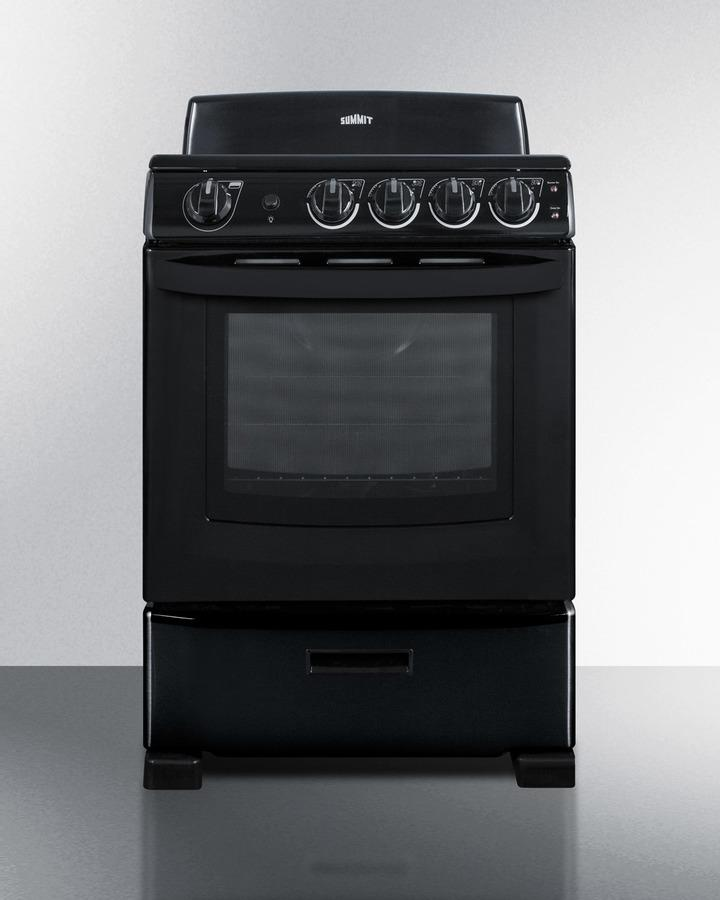 "24"" Wide Smooth-top Electric Range In Black, With Lower Storage Drawer and Oven Window; Available Winter 2018 To Replace Model Rex243b Photo #5"