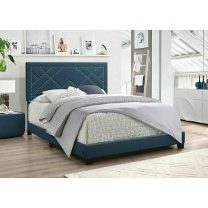 ACME Ishiko Queen Bed - 20860Q - Dark Teal Fabric