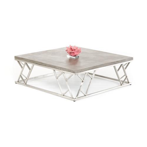 VIG Furniture - Modrest Scape Modern Concrete Coffee Table