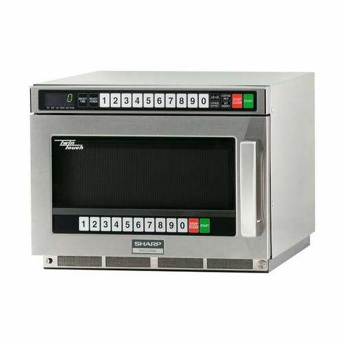 Sharp TwinTouch 1200 Watt Commercial Microwave Oven with Dual TouchPads
