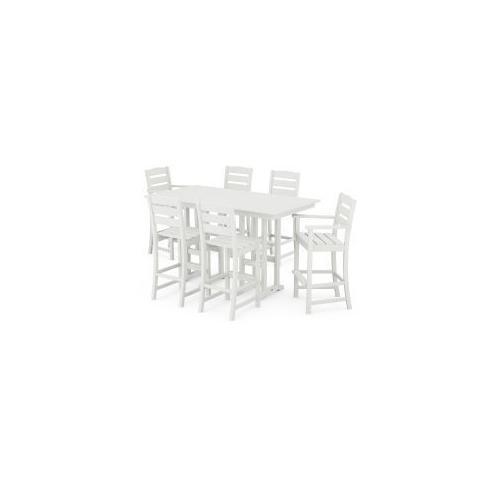 Polywood Furnishings - Lakeside 7-Piece Bar Set in Vintage White