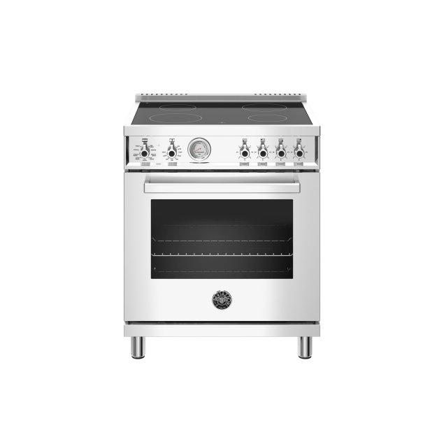 Bertazzoni 30 inch Electric Range, 4 Heating Zones, Electric Oven Stainless Steel
