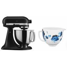 See Details - Exclusive Artisan® Series Stand Mixer & Ceramic Bowl Set - Black Matte