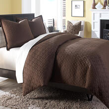 3 pc King Coverlet/Duvet/Quilt Set Cocoa