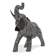 Large Elephant Aluminum Scroll Design