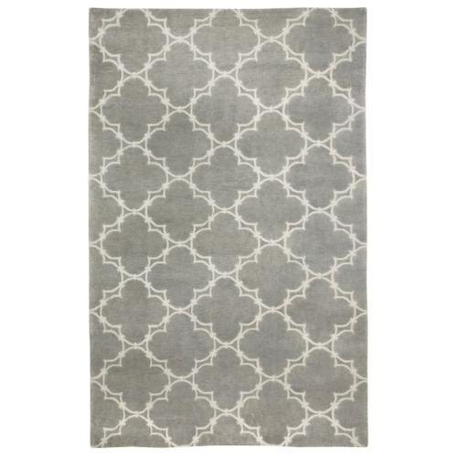 Quatrefoil Gray Ivory - Rectangle - 5' x 8'
