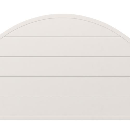 Cumberland King Metal Bed, Brushed White