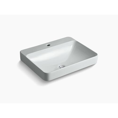 Ice Grey Vessel Bathroom Sink With Single Faucet Hole
