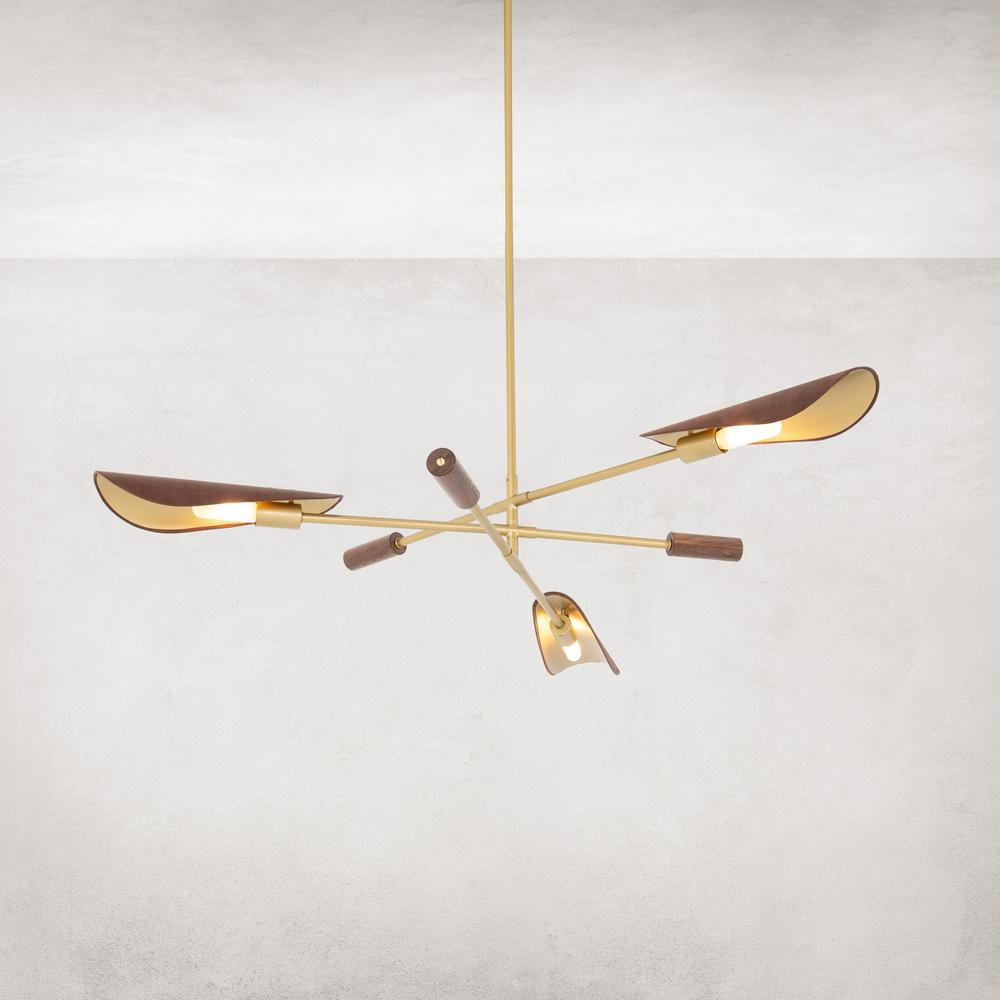 Astrid Chandelier-dark Brown Leather