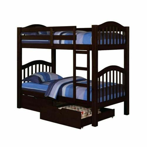 ACME Heartland Twin/Twin Bunk Bed - 02554 - Espresso