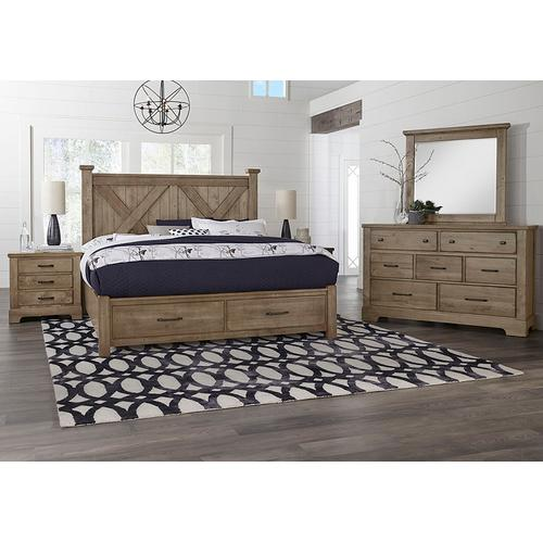 Product Image - X Bed with Footboard Storage