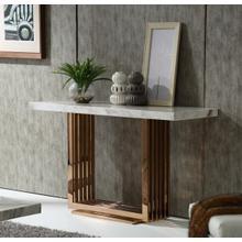 See Details - Modrest Kingsley Modern Marble & Rosegold Console Table