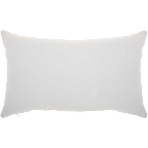 "Trendy, Hip, New-age L1001 White/gold 14"" X 22"" Throw Pillow"