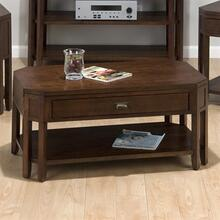 View Product - 8-leg Cocktail Table W/ Pull-thru Drawer and Shelf