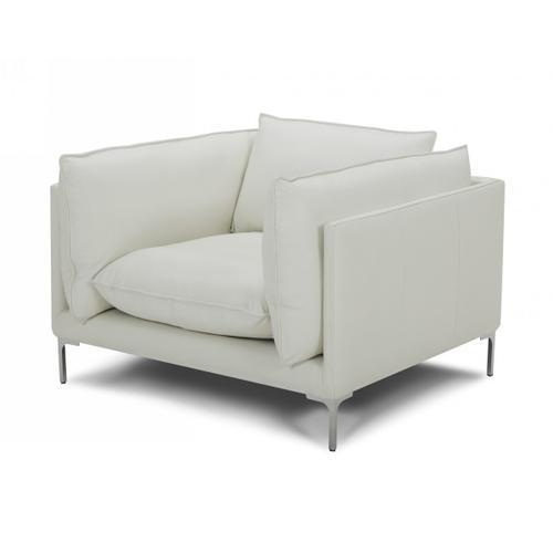 VIG Furniture - Divani Casa Harvest - Modern White Full Leather Chair