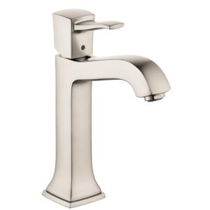 Brushed Nickel Single-Hole Faucet 160 with Pop-Up Drain, 1.2 GPM
