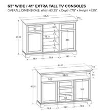 XT63D Extra Tall Custom TV Console