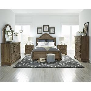 Queen Complete Panel Bed - Caramel Finish