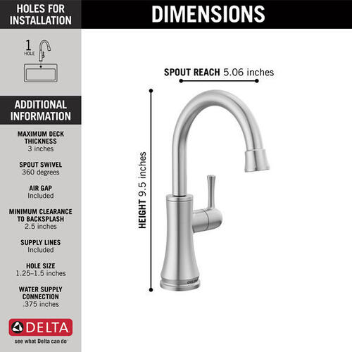 Arctic Stainless Transitional Beverage Faucet