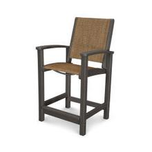 View Product - Coastal Counter Chair in Vintage Coffee / Chateau Sling