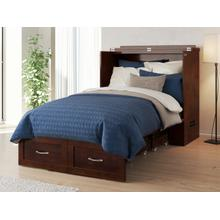 View Product - Hamilton Murphy Bed Chest Twin Extra Long Walnut with Charging Station