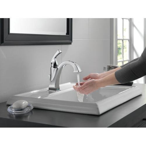 Champagne Bronze Single Handle Bathroom Faucet with Touch 2 O.xt ® Technology