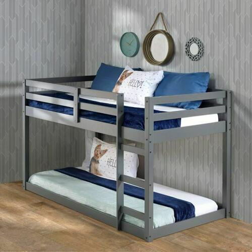 ACME Gaston Loft Bed - 38180 - Contemporary - Wood (Solid Pine) - Gray