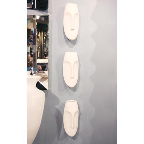 Howard Elliott - Matte White Face Wall Sculpture