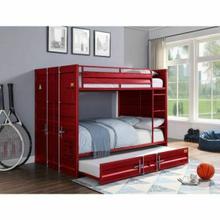 ACME Cargo Bunk Bed (Full/Full) - 37915 - Red