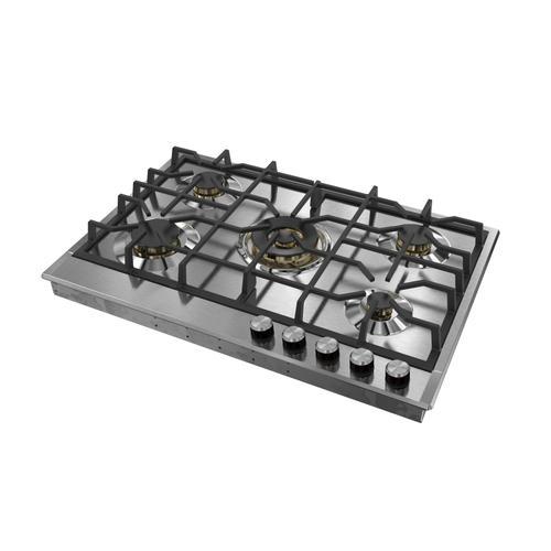 "Verona - Verona 30"" Designer Gas Cooktop-Brass Burners SS"