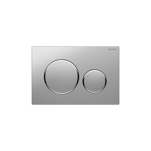 Sigma20 Dual-flush plates for Sigma series in-wall toilet systems Matte chrome with polished chrome accent Finish